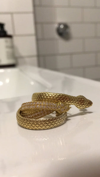 PYTHON SMALL HOOPS WITH GEMS