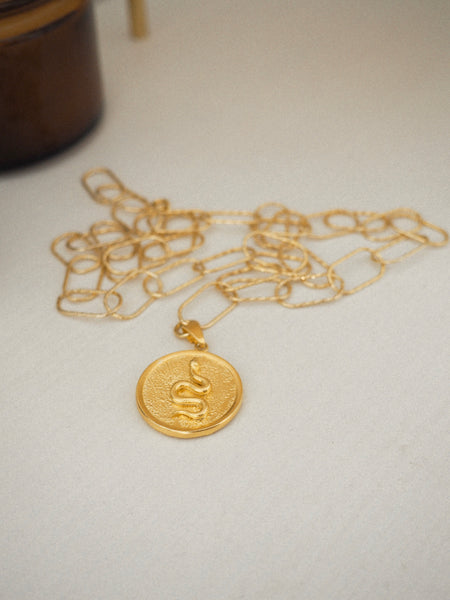 PYTHON SMALL COIN DIONYSUS CHAIN NECKLACE OR DOUBLE BRACELET