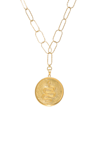 PYTHON LARGE COIN DIONYSUS CHAIN NECKLACE OR DOUBLE BRACELET