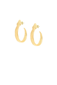 Python Small Hoops - 14k Solid Gold