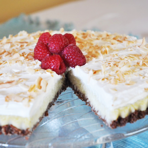 Coconut Cream Pie in a Cocoacake Crust