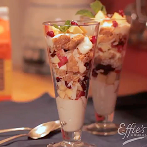 Yogurt Parfait with Effie's Oatcakes