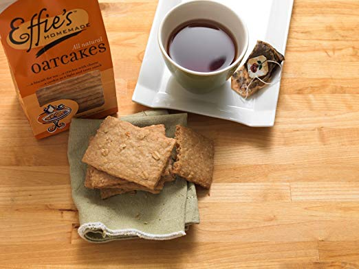 Try Effie's Homemade Oatcakes with your favorite french roast or herbal tea
