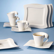 Villeroy & Boch New Wave White Porcelain 12 Piece Coffee Serving Set