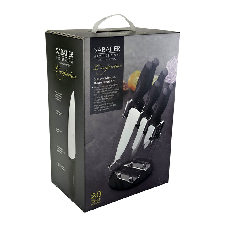 Taylors Eye Witness Sabatier Professional L'Expertise Soft Touch 6 Piece Knife Block Set