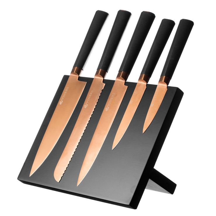Viners Titan Copper 6 Piece Knife Block Set