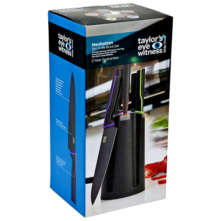 Taylors Eye Witness Manhattan 5 Piece Kitchen Knife Block Set