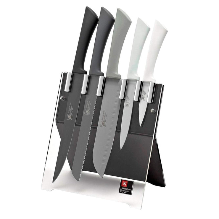 Richardson Sheffield Love Colour Mono 5 Piece Knife Block Set