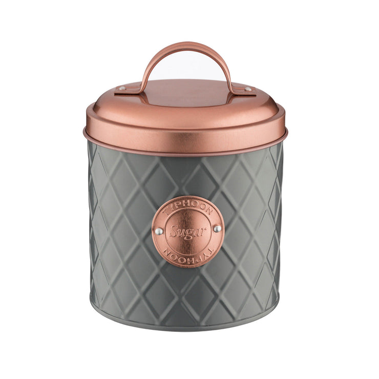 Typhoon Copper Lid Tea Coffee Sugar Bread Bin Kitchen Storage Set