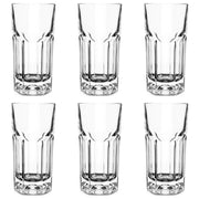 RCR Crystal Provena Set of 6 Tall Hi-Ball 37 cl Drinking Glasses
