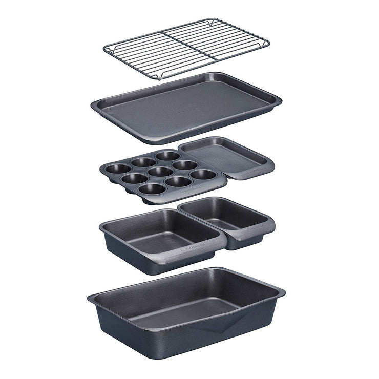 Masterclass Smartspace 7 Piece Stacking Non Stick Baking & Roasting Tin Set