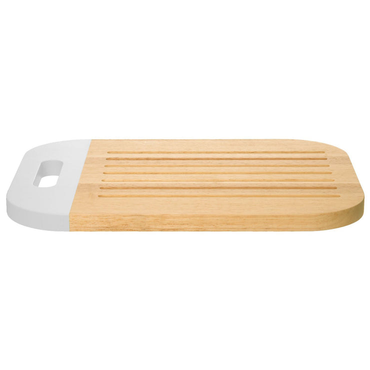 Designer Dip-it Rubberwood Chopping Board Breadboard and Cheeseboard - White