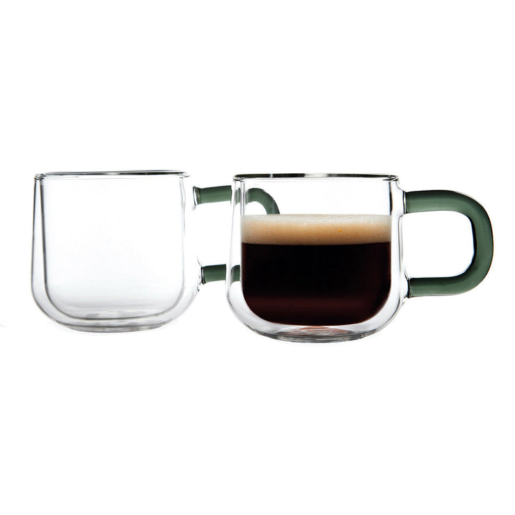 Ravenhead Set of 2 Double Walled Contemporary Glass 9 cl Espresso Cups