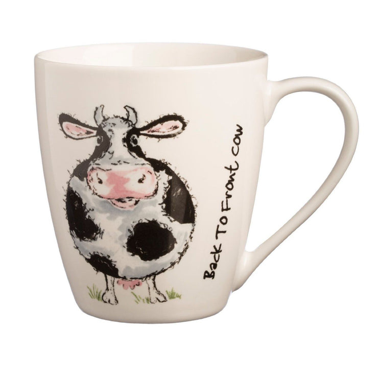 Price & Kensington Back To Front Cow Mug - Fine China