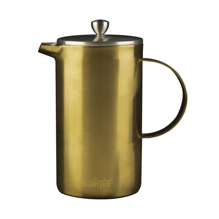 La Cafetiere Edited Brushed Gold 8 Cup Stainless Steel 8 Cup Cafetiere