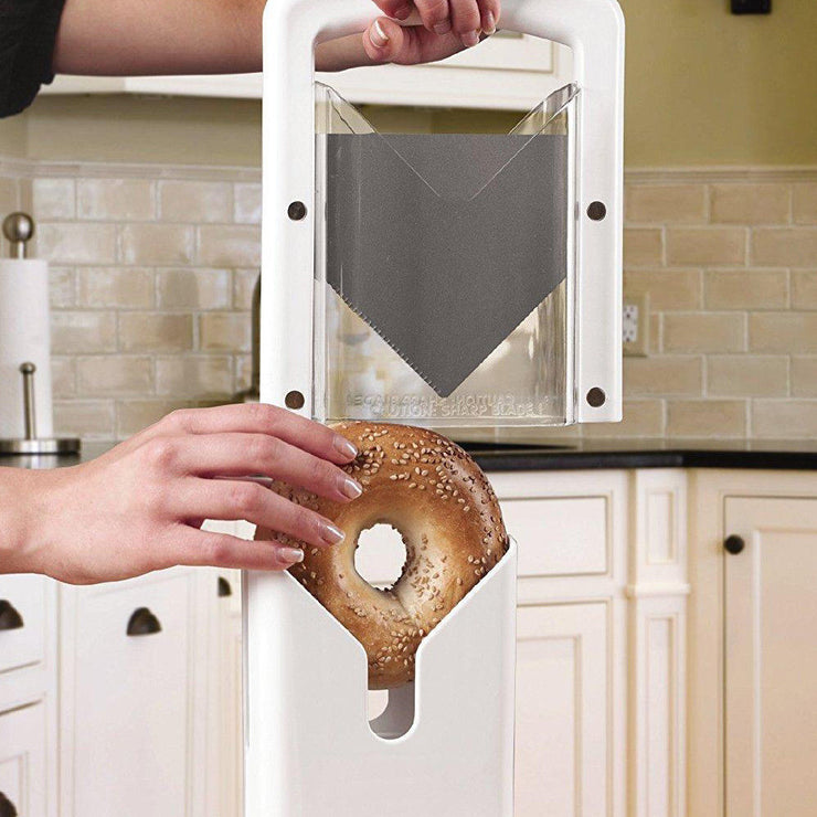 Kitchen Craft Bagel Biter Guillotine Slicer - Slices Bagels Easily