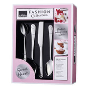 Amefa Fashion Collection 24 Piece Sweet Heart Embossed Cutlery Set