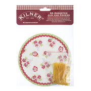 Kilner Pack of 24 Assorted Haberdashery Jam Jar Covers & Elastic Bands