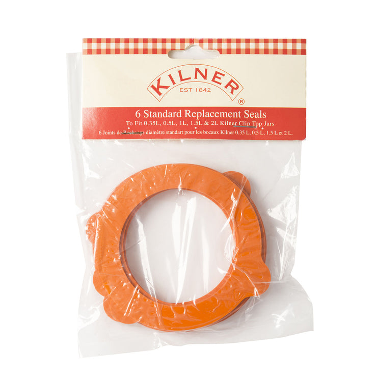 Pack of 6 Kilner Standard Rubber Seals for Clip Top Jars