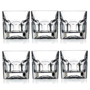RCR Crystal Provenza Set of 6 18.5 cl Quality Crystal Whisky Tumbler Glasses