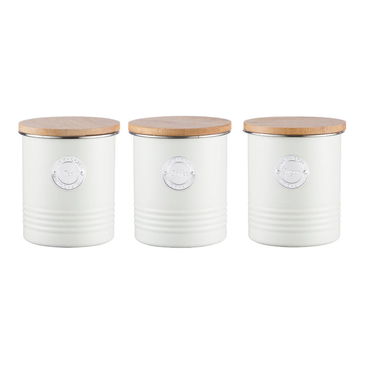 Typhoon Living Cream Tea Coffee Sugar Storage Set