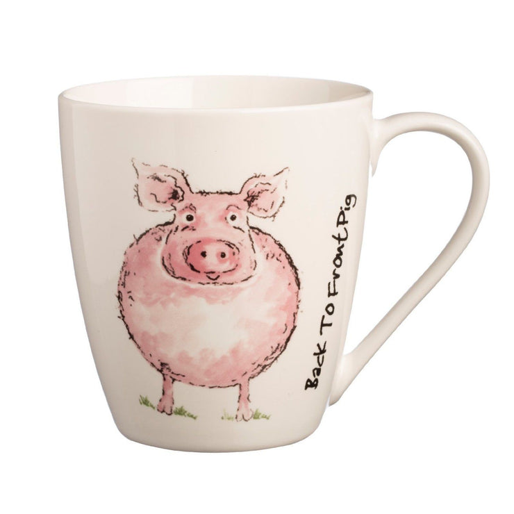 Price & Kensington Back To Front Pig Mug - Fine China
