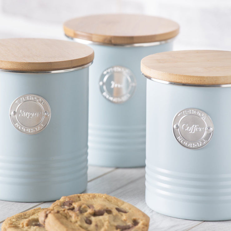 Typhoon Living Blue Tea Coffee Sugar Storage Set