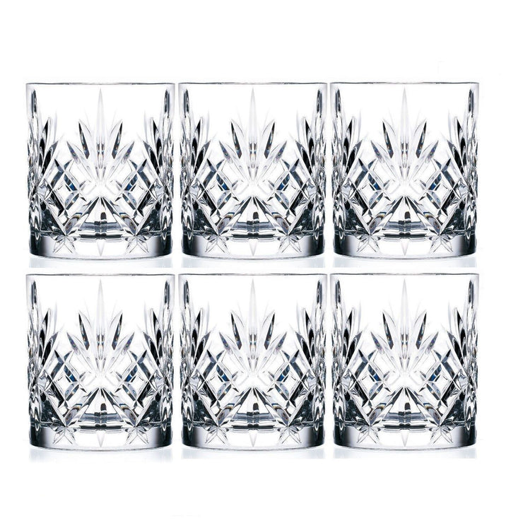 RCR Melodia Set of 6 Italian Crystal 23cl Whiskey Tumbler Glasses