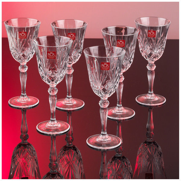 RCR Melodia Set of 6 Italian Crystal 21 cl White Wine Goblets