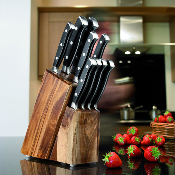 Taylors Eye Witness 9 Piece Knife Block Set in Acacia Wood Block