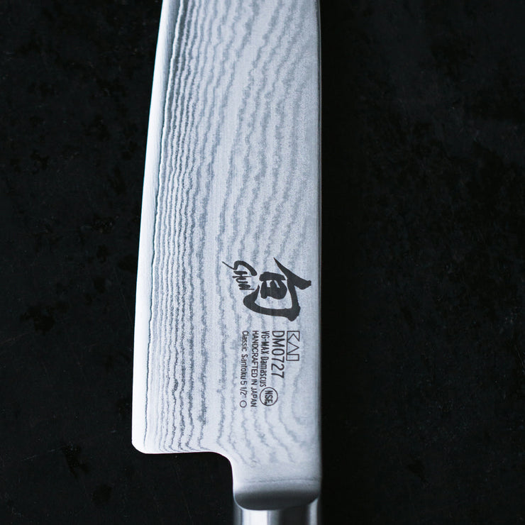 Kai Shun Classic Series 32 Layer Stainless Damascus Steel 18cm Santoku Knife