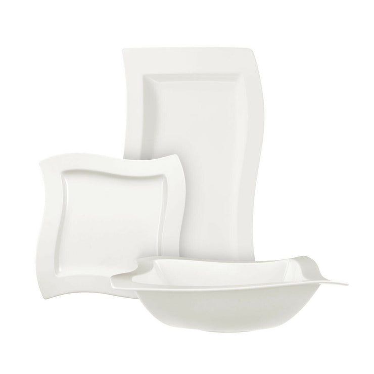 Villeroy & Boch New Wave Fine White Porcelain 6 Piece Party Serving Set