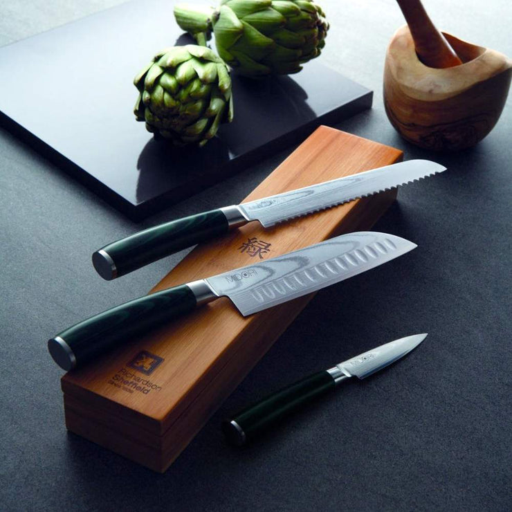 Richardson Sheffield Midori VG-10 Damscus Steel Bread Knife