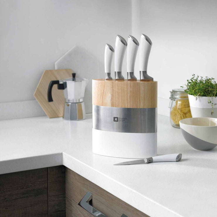 Richardson Sheffield Fusion Fashion 5 Piece Modern Kitchen Knife Block Set
