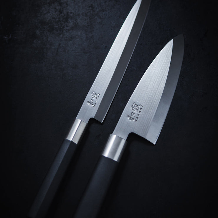 Kai Wasabi Black Stainless Steel 16.5 cm Japanese Nakiri Knife