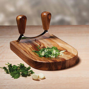 KitchenCraft Natural Elements Acacia Wood Hachoir Set