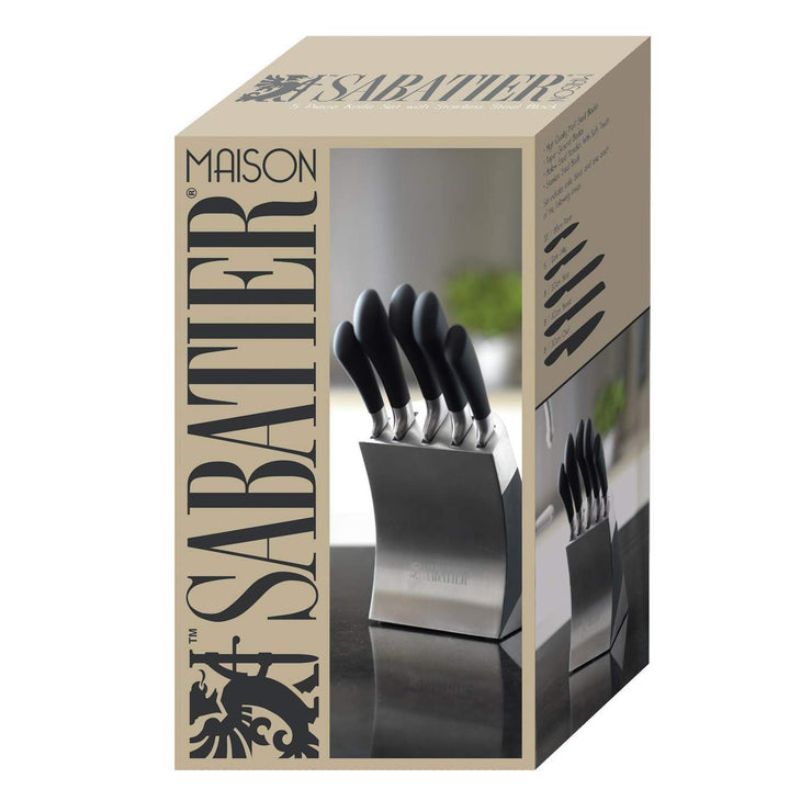 Creative Tops Sabatier Maison Stainless Steel 5 Peice Knife Block