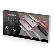 Bergner Neon 4 Piece Modern Kitchen Knife Set