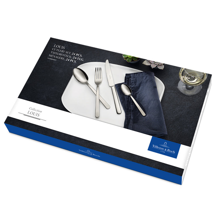 Villeroy & Boch Louis 24 Piece 18/10 Stainless Steel Cutlery Set