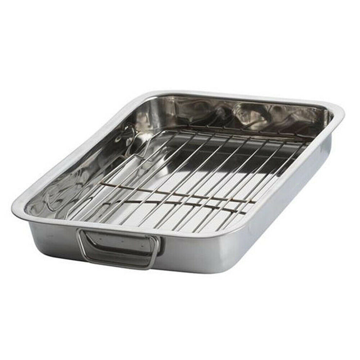 Viners Everyday Stainless Steel 41 x 29 cm Roasting Tray With Rack