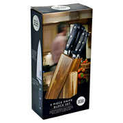 Taylors Eye Witness 5 Piece Acacia Wood Kitchen Knife Block Set