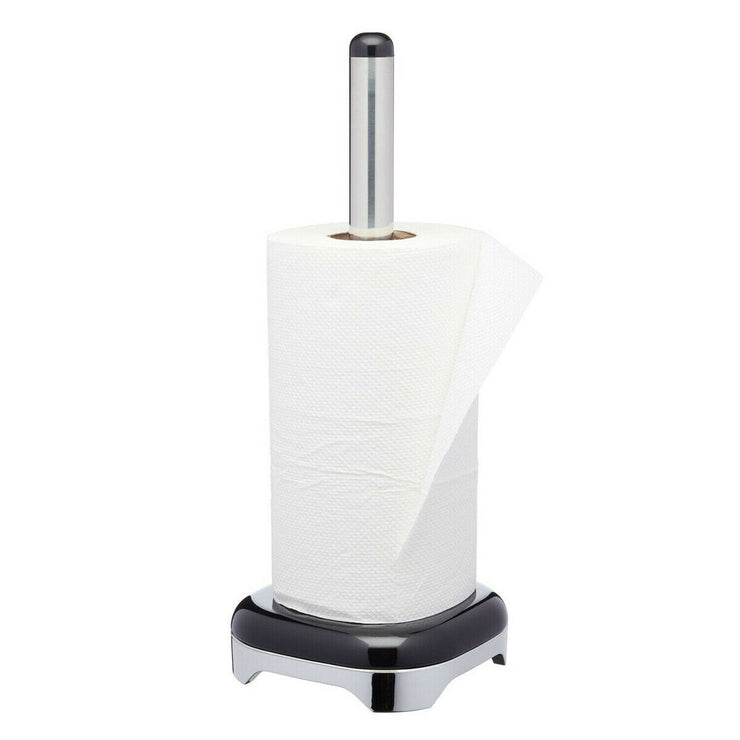 Kitchen Craft Lovello Black Kitchen Roll Paper Towel Holder Dispenser