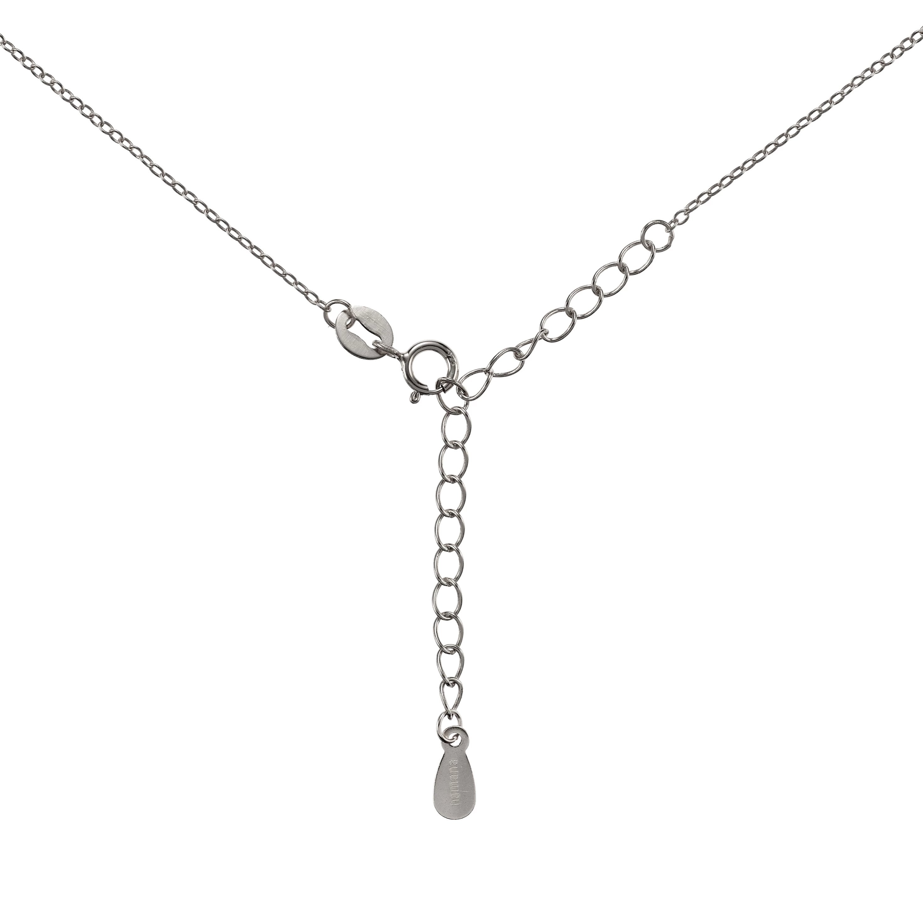 sterling zirconia infinity in necklace silver heart cubic