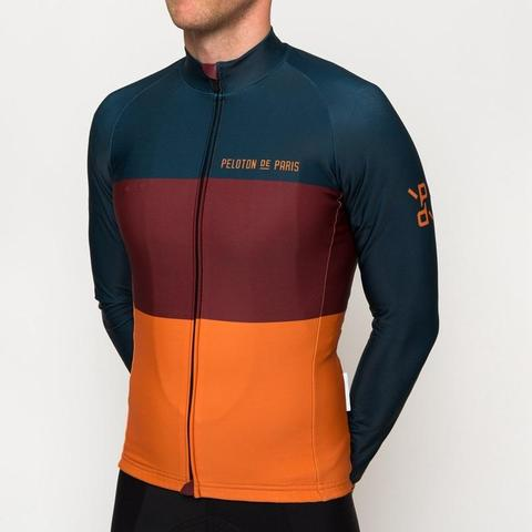 Peloton De Paris Tricolore Anthracite Domestique Long Sleeve Jersey