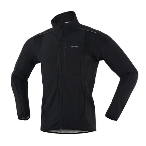 ARSUXEO Winter Warm UP Thermal Soft shell Cycling Jacket Windproof Waterproof