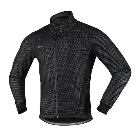 ARSUXEO Men's Thermal Cycling Winter Warm Up Jacket