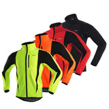 ARSUXEO Cycling Jackets ARSUXEO Winter Warm UP Thermal Soft shell Cycling Jacket Windproof Waterproof