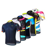 ARSUXEO Cycling Jerseys ARSUXEO Mens Cycling Jersey Short Sleeves Mountain Bike Bicycle Shirts