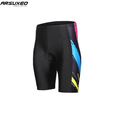 ARSUXEO Men's Padded Compression Cycling Shorts
