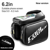 CoolChange Bicycle Bags & Panniers 12019NLFG62 / China CoolChange Cycling Front Frame Tube Waterproof Bag Double IPouch